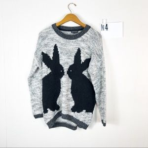 Topshop bunny sweater Sz 6